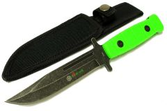 """9"""" Zomb-War Stainless Steel Hunting Knife with Stone Washed Blade"""