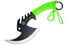 "11.5"" Zomb-War Tactical Axe Stainless Steel Green"