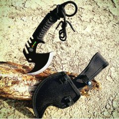 "11.5"" Zomb-War Tactical Axe Stainless Steel Black"