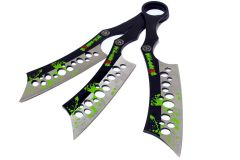 Set of 3 Zombie-War Throwing Knives with Sheath