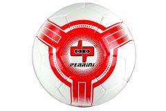 Perrini Futsal Ball White Red Low Bounce Football Official Size 4