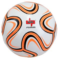 Perrini Official Size 5 Soccer Ball Neon Orange and Black