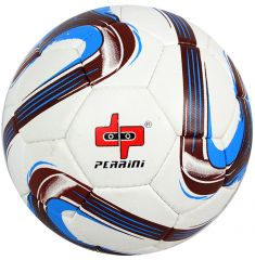 Perrini Match Ball Soccer White Blue Brown Football Training Official Size 5