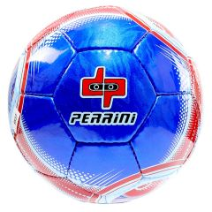 Perrini Indoor Outdoor Sports Blue Red Trim Soccer Ball Size 5