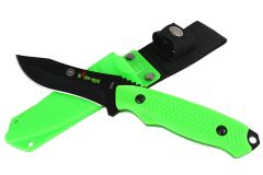 """8"""" Defender Xtreme Hunting Knife with Sheath Green"""