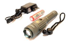 "6.5"" Grey T6 Multi-Purpose Heavy Duty Flashlight"