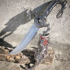 "17"" Collectible Fantasy Red Dragon Dagger"