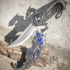 "17"" Collectible Fantasy Blue Dragon Dagger"