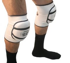 White Professional Protective Knee Pads