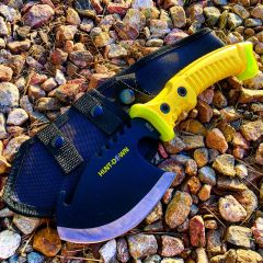 "10.5"" Hunt-Down Axe with Yellow Rubber Handle"