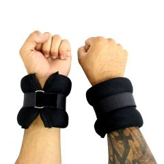2LBS Perrini Black Wrist/Ankle Weights