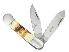 """6.5"""" The Bone Edge Practical Dual-Bladed Pocket Knife"""