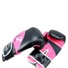 12oz Adult Size Last Punch Black and Pink Viper Boxing Gloves