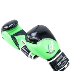12oz Adult Size Last Punch Black and Green Viper Boxing Gloves