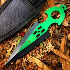 Zomb War Throwing knife Green W/ sheath