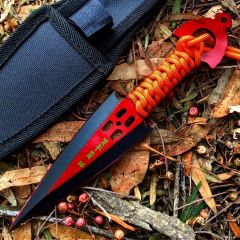 Zomb War Throwing knife Red W/ sheath