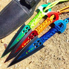 Zomb War 3 Pc Throwing Knife set W/ sheath