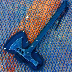 "15"" Stonewash Blade Hunting Axe with Sheath Outdoor Camping Axe"