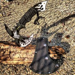 "11"" Hunt-Down Dragon Fire Axe Outdoor Hunting Camping Survival Steel Hatchet"