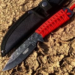 "Defender Xtreme 9"" High Quality Hunting Tactical Survival Sharp Knife Forest Camo"