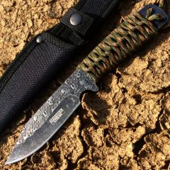 "Defender Xtreme 9"" High Quality Hunting Tactical Survival Sharp Knife Camo Color"
