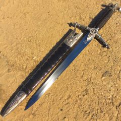 "TheBoneEdge 18"" Steel Assassin Collectible Dagger With Scabbard"