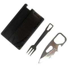 Defender Multi Function Credit Card Pocket Survival 4 in 1 Tool Kit Pocket Tools Pouch