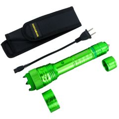 Defender-Xtreme High Powered Tactical Green Flashlight Self Defence Stun Gun