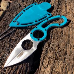 "Defender-Xtreme 7"" Stainless Steel Full Tang Survival Knife With Sheath - Blue"