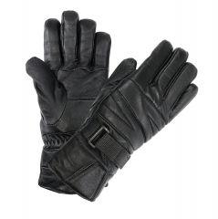 Perrini Motorcycle Gloves Leather Biker Gloves Black Color
