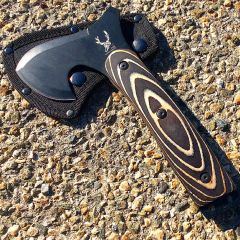 "TheBoneEdge Tactical 9"" Axe Stainless Steel Blade Wooden Handle"