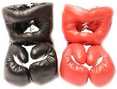 New 16oz Sets 2 Headgear 2 Pair Boxing Punching Gloves
