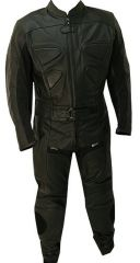 2pc Alienator Motorcycle Leather Racing Suit All Black