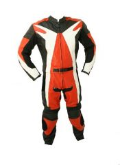 2pc Motorcycle Racing Leather Suit with Hard Padding
