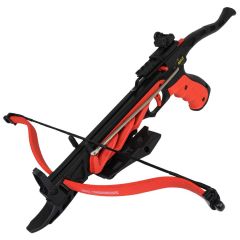 Man Kung Crossbows The Impact 80 Lb Hand Hunting Crossbow Black & Red W/ Safety