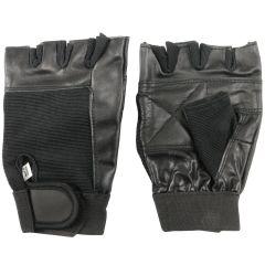 Black Fingerless gloves with hand cushion padding