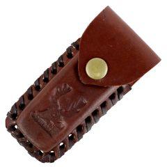 "TheBoneEdge Brown 5"" Tactical knife Leather Sheath for a Knife Belt Loop"