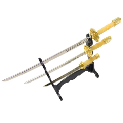 Defender Samurai Sword Set of 3 Miniature Desk Letter Opener with Stand