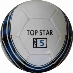 Perrini Top Star Indoor Outdoor Sports Blue Black Soccer Traning Ball Size 5