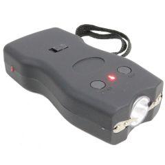 """Defender 4"""" 5 Million Black Hand Held Stun Gun LED Light Recharable Battery"""