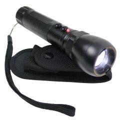 Defender Black 10 Million Flashlight Style LED Dimmer Stun Gun