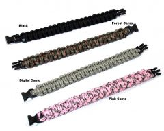 "9"" Survival Paracord Bracelets & Buckles Colors Available"