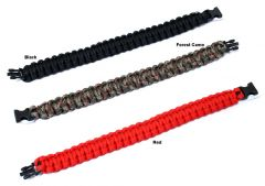 "10"" Survival Paracord Bracelets & Buckles Colors Available"