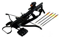 175 LBS  Recurve Hunting Crossbow Package Scope Rope Arrows Sling Stringer 245 FPS
