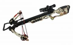 175 LBS Hunting Crossbow Package with Scope Arrows Rope Cocking 360 FPS