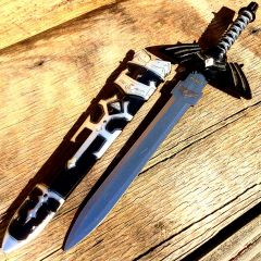"Defender 11"" Black Hero Dagger  With Sheath Sharp Blade"