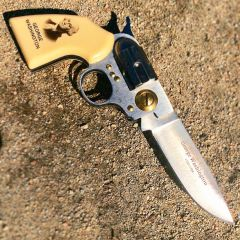 High Quality Defender George Washington Gun Folding Knife