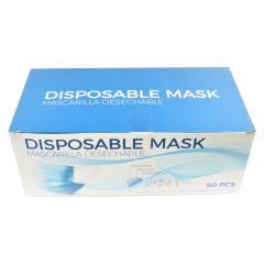Disposable Face Masks 50 PCS3 Layer Breathable Safety Mask Blue