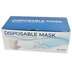 Disposable Face Masks 50 PCS 3 LayerBreathable Safety Mask White