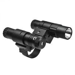 """1"""" Scope Mount w/ Flashlight & Grn Laser"""